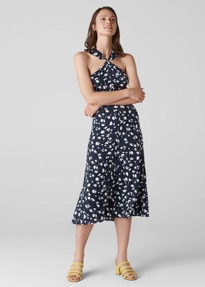 Celia Print Frill Detail Dress
