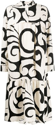 Marni Abstract-Print Dress