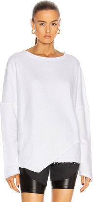 ALALA Exhale Sweatshirt in White | FWRD