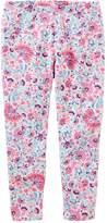 Osh Kosh Girls 4-12 Floral Leggings
