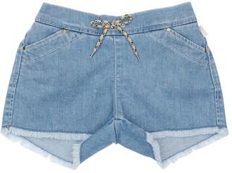 Chloé Light Denim Effect Cotton Shorts