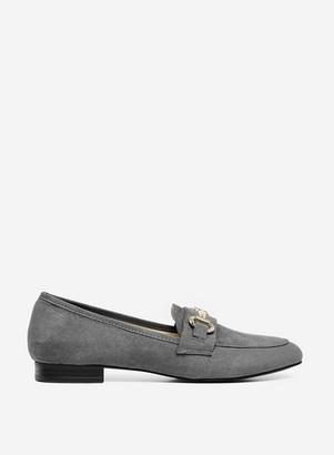 Dorothy Perkins Womens Grey 'Lilo' Snaffle Loafers, Grey