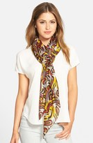 La Fiorentina Women's Swirl Pattern Silk Scarf