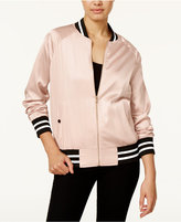 Say What ? Juniors' Satin Bomber Jacket