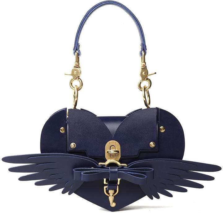 Niels Peeraer Wings Heart Smooth-leather Shoulder Bag