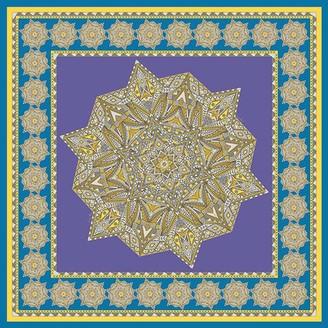Gisy Metal Mandala Silk Twill Scarf 88 Cm