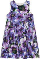 Dolce & Gabbana Girl's Blooming Floral Sleeveless Dress, Size 4-6