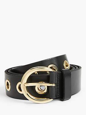 John Lewis & Partners Mila Eyelet Skinny Leather Belt