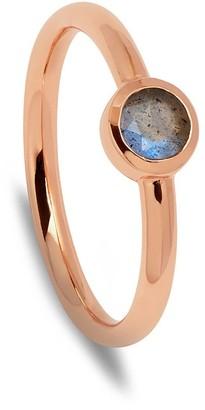 Lola Rose London Curio Stud Stacker Ring Labradorite