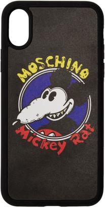 Moschino Black Chinese New Year Mickey Rat iPhone XS/X Case