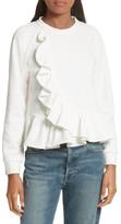 Sea Women's Ruffle Crop Sweatshirt