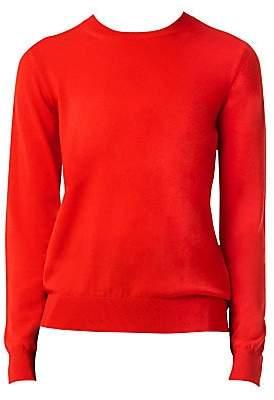 Burberry Women's Bempton Crewneck Check Elbow Sweater