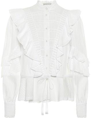 Etro Ruffled cotton top
