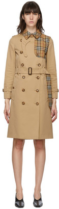 Burberry Beige Check Herne Trench Coat