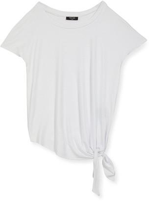 Terez Girl's Side-Tie Jersey Tee, Size 4-6X