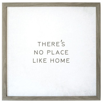 """Petal Lane """"There's No Place Like Home"""" Magnet Board With Vintage Frame, 24""""x24"""""""