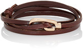 Miansai WOMEN'S GAMLE CLASP ON LEATHER WRAP BRACELET