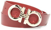 Salvatore Ferragamo Large Gancini Buckle Belt, Red