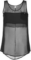 Faith Connexion Silk Tank Top in Black