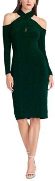 Rachel Roy Simone Crisscross-Halter Sheath Dress