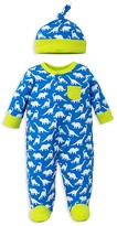 Offspring Infant Boys' Dino Footie & Hat Set - Sizes Newborn-9 Months