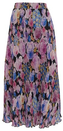 Thumbnail for your product : Ganni Pleated Georgette midi skirt