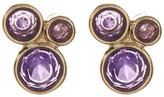 Melinda Maria Jasmine Amethyst Cluster Stud Earrings