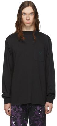 South2 West8 Black Mock Neck Long Sleeve T-Shirt