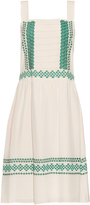 Vanessa Bruno Elda embroidered silk-crepe dress