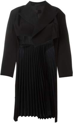 Comme des Garcons Pre-Owned pleated long back jacket