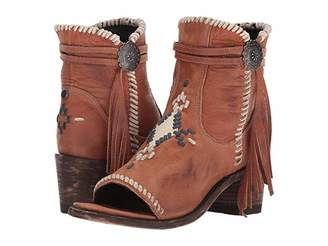 Old Gringo Double D Ranchwear By Double D Ranchwear by Tuskegee (Cognac/Blue) Cowboy Boots