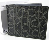 Calvin Klein Logo Mens Wallet Billfold Bifold Genuine Leather Boxed