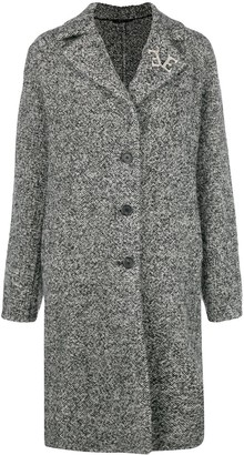 Ermanno Scervino marbled single breasted coat
