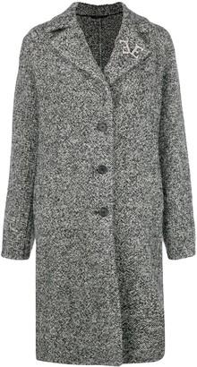 Ermanno Scervino Marbled Single Breasted Coat