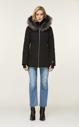 Soia & Kyo CHARLETTE hip-length Thermolite coat with faux fur