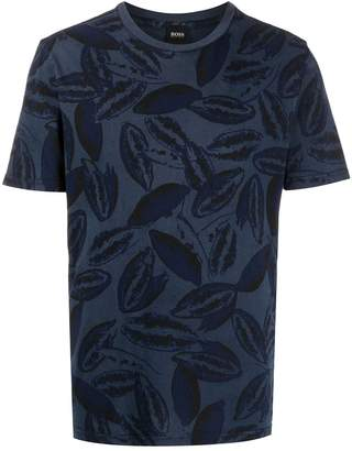 HUGO BOSS papaya print T-shirt