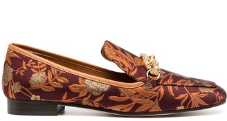 Tory Burch Floral-Jacquard Loafers