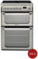 Hotpoint Ultima HUI611X 60cm Double Oven Electric Cooker With Induction Hob - Stainless Steel
