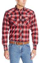 Wrangler Men's 20x Long Sleeve Two Pocket Snap Red Woven Shirt