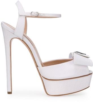 Casadei Crystal-Embellished Stiletto Heels