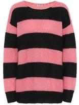 Miu Miu Striped mohair-blend sweater