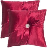 Safavieh Posh Throw Pillows in Holiday Red (Set of 2)