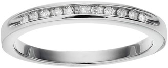 I Promise YouSterling Silver 1/10 Carat T.W. Diamond Promise Ring