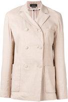 Isabel Marant double breasted blazer - women - Silk/Linen/Flax/Spandex/Elastane/Viscose - 34