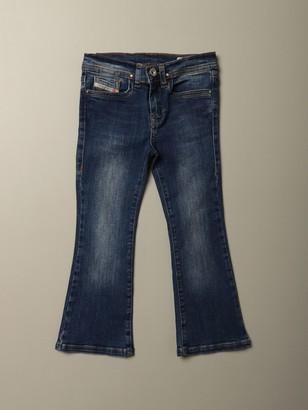 Diesel Flare Fit Jeans In Denim