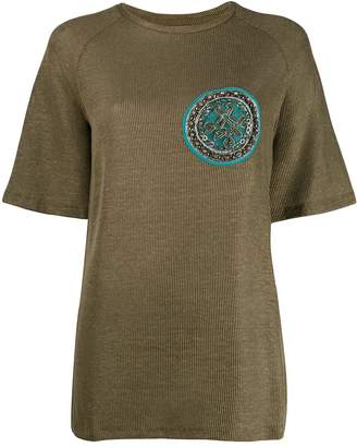 Mr & Mrs Italy embroidered patch top