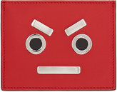 Fendi Red 'Fendi Faces' Card Holder