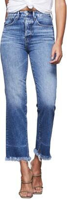 Good American Good Boy Frayed Hem Boyfriend Jeans
