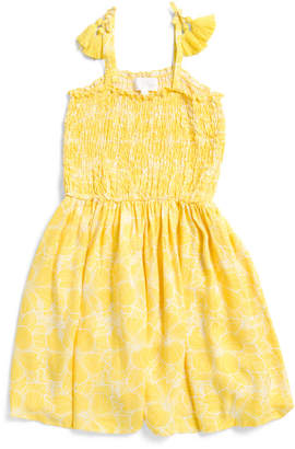 Toddler And Little Girls Smocked Sundress