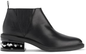 Nicholas Kirkwood Suzi Studded Leather Ankle Boots
